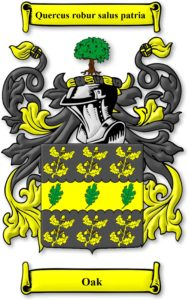 Coat of Arms Discovered for Nathaniel Oak Family – The